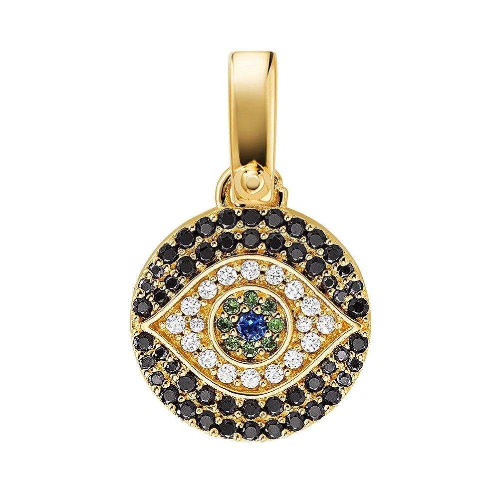 Michael Kors Custom Kors 14ct Gold Plated Silver Cubic Zirconia Evil Eye Charm