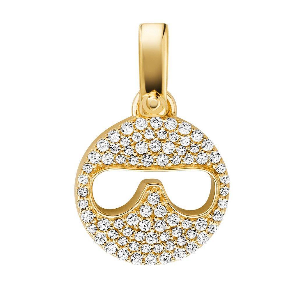 Michael Kors Custom Kors 14ct Gold Plated Silver Cubic Zirconia Emoji Charm