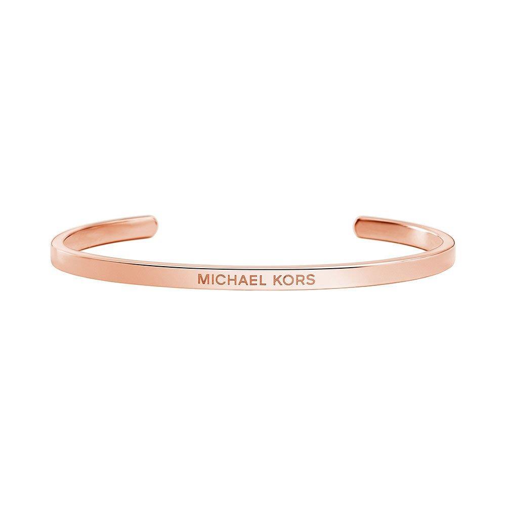 Michael Kors Custom Kors 14ct Rose Gold Plated Silver Insert Bangle