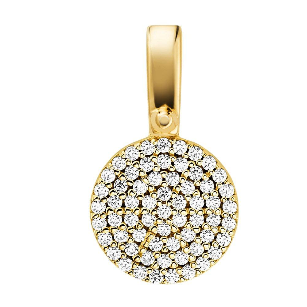 Michael Kors Custom Kors 14ct Gold Plated Silver Cubic Zirconia Charm