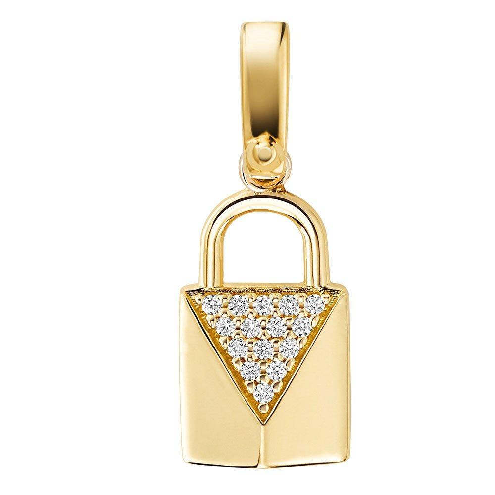 Michael Kors Custom Kors Gold Plated Silver Cubic Zirconia Padlock Charm