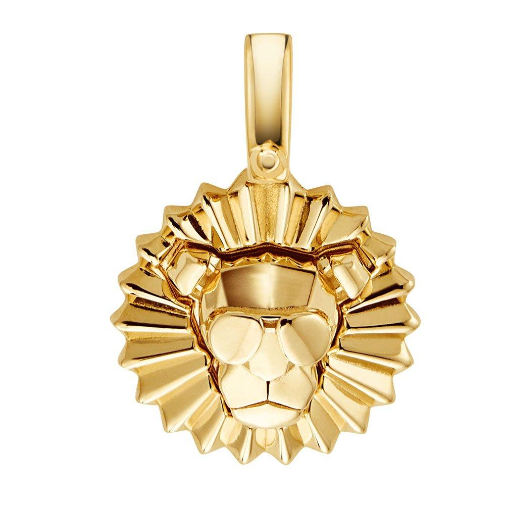 Michael Kors Custom Kors 14ct Gold Plated Silver Lion Head Charm