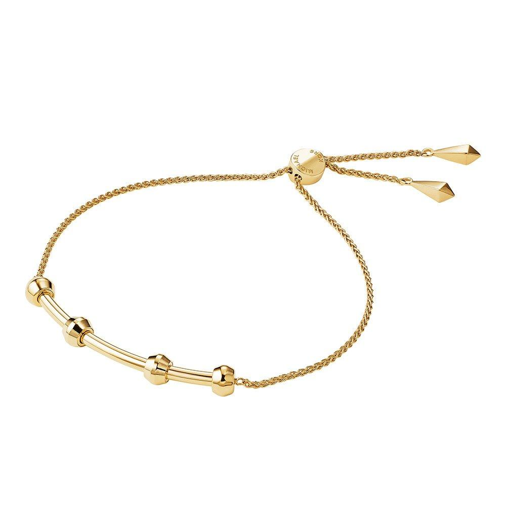 Michael Kors Custom Kors 14ct Gold Plated Silver Slider Bracelet