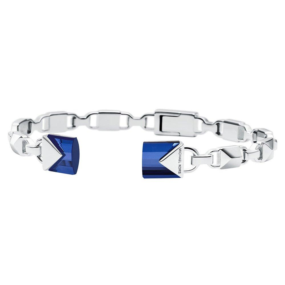 Michael Kors Mercer Link Silver Blue Quartz Bangle