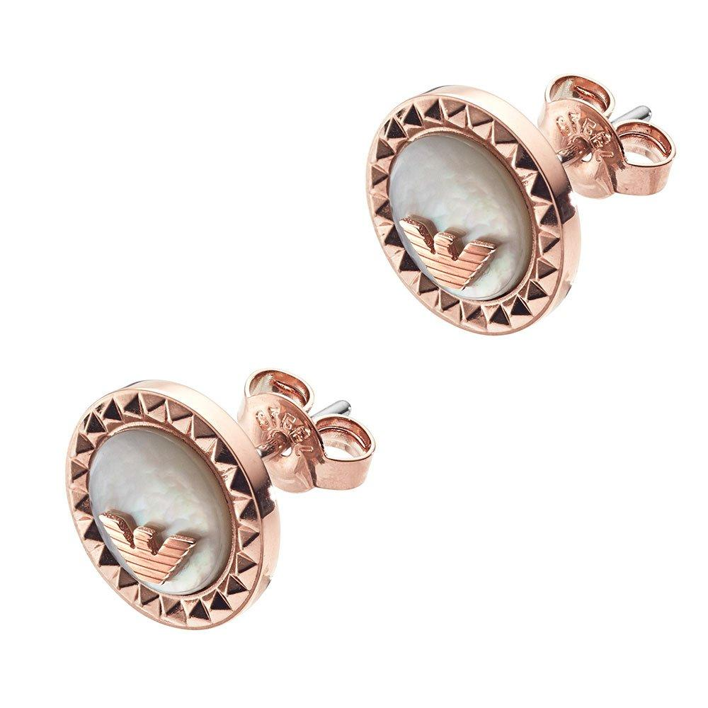 Emporio Armani Rose Gold Plated Stud Earrings