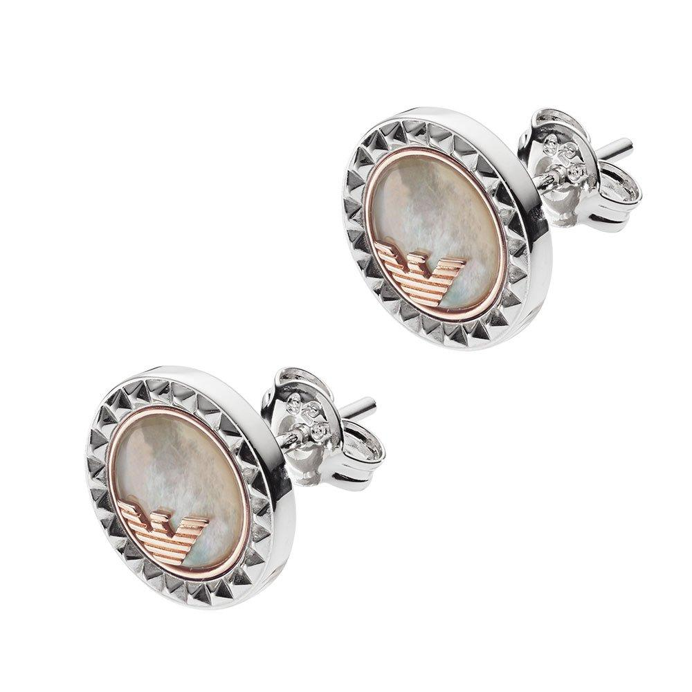 Emporio Armani Silver Mother of Pearl Earrings