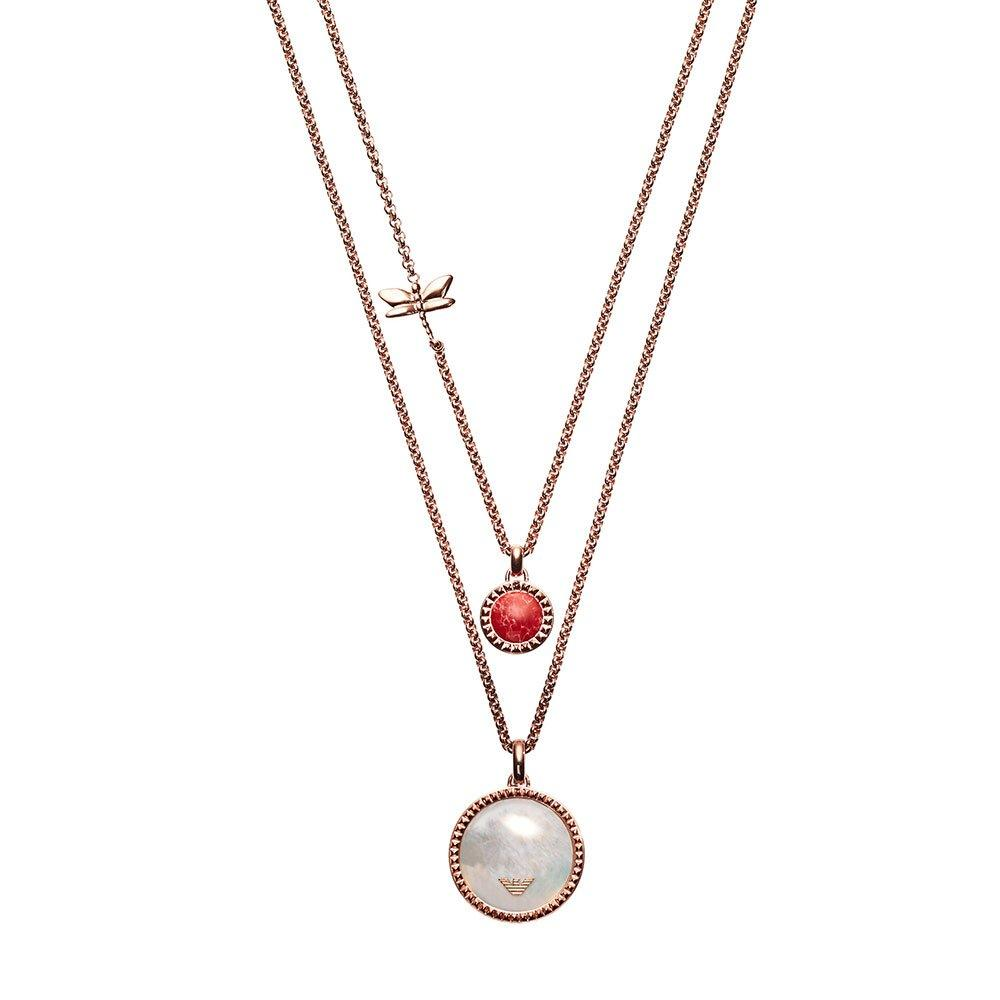 Emporio Armani Rose Gold Plated Mother of Pearl Pendant