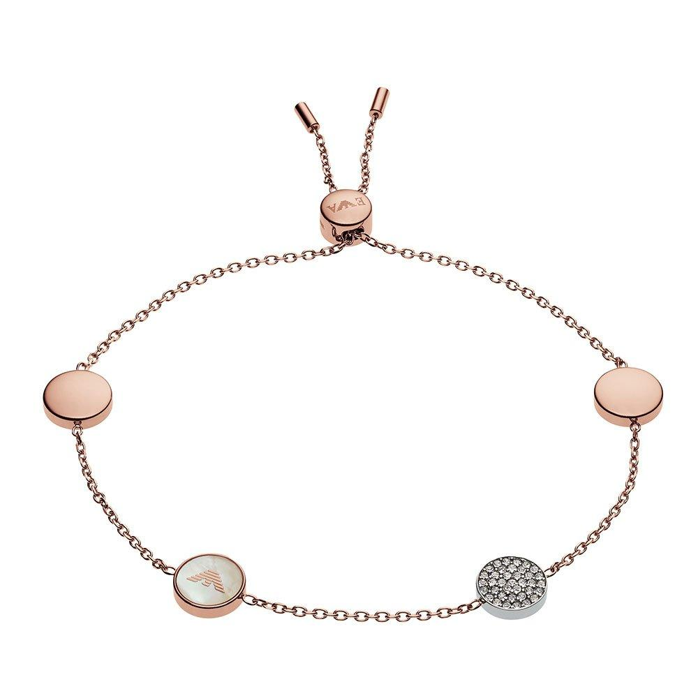 Emporio Armani Rose Gold Tone Mother of Pearl Bracelet