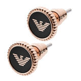 Emporio Armani Rose Gold Tone Earrings