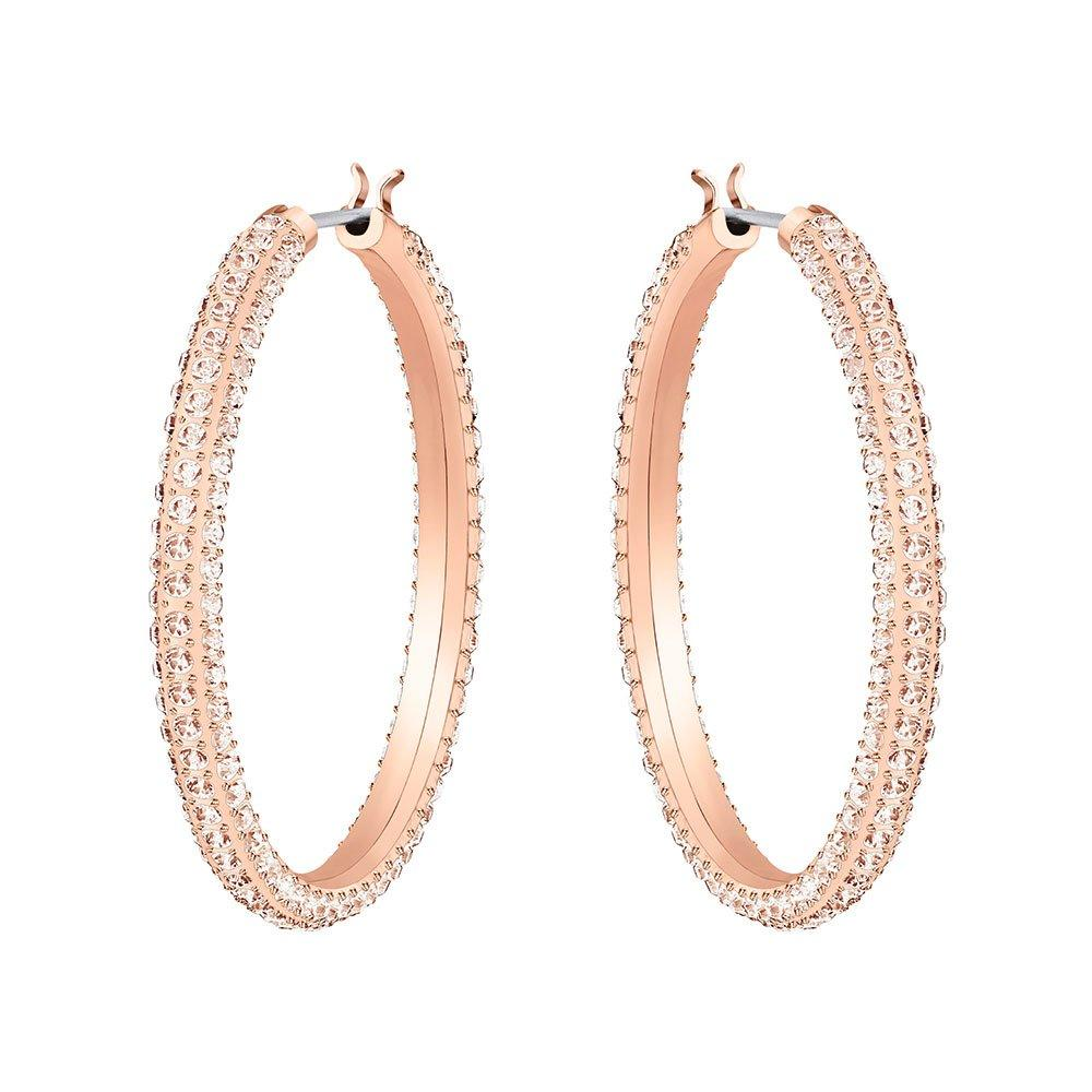 Swarovski Rose Gold Plated Crystal Hoop Earrings