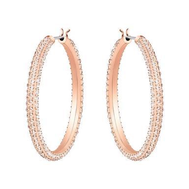 Swarovski Rose Gold Plated Crystal Hoop Earrings