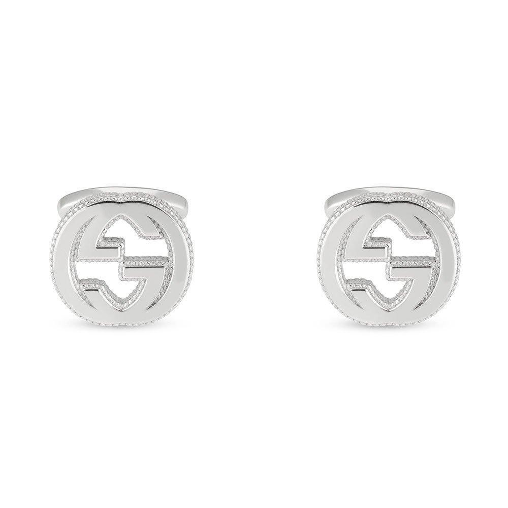 Gucci Interlocking G Silver Cufflinks