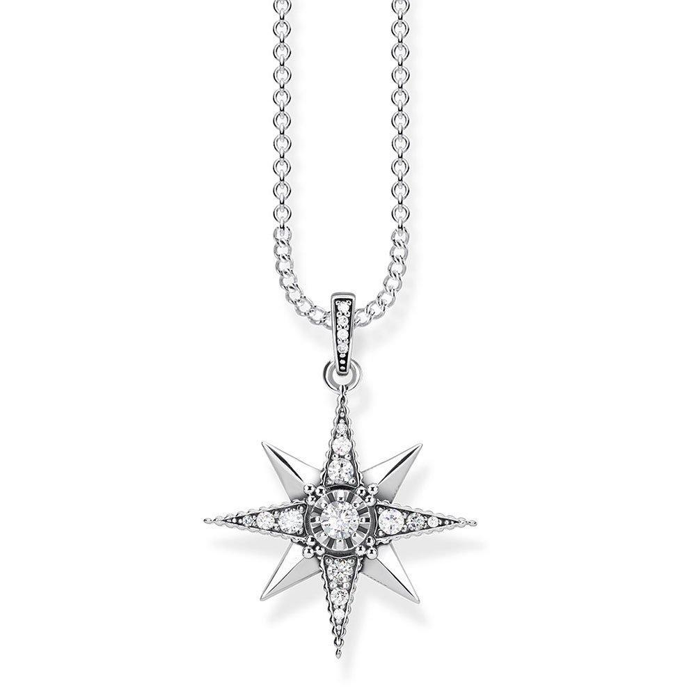 Thomas Sabo Glam & Soul Silver Royalty Star Cubic Zirconia Necklace