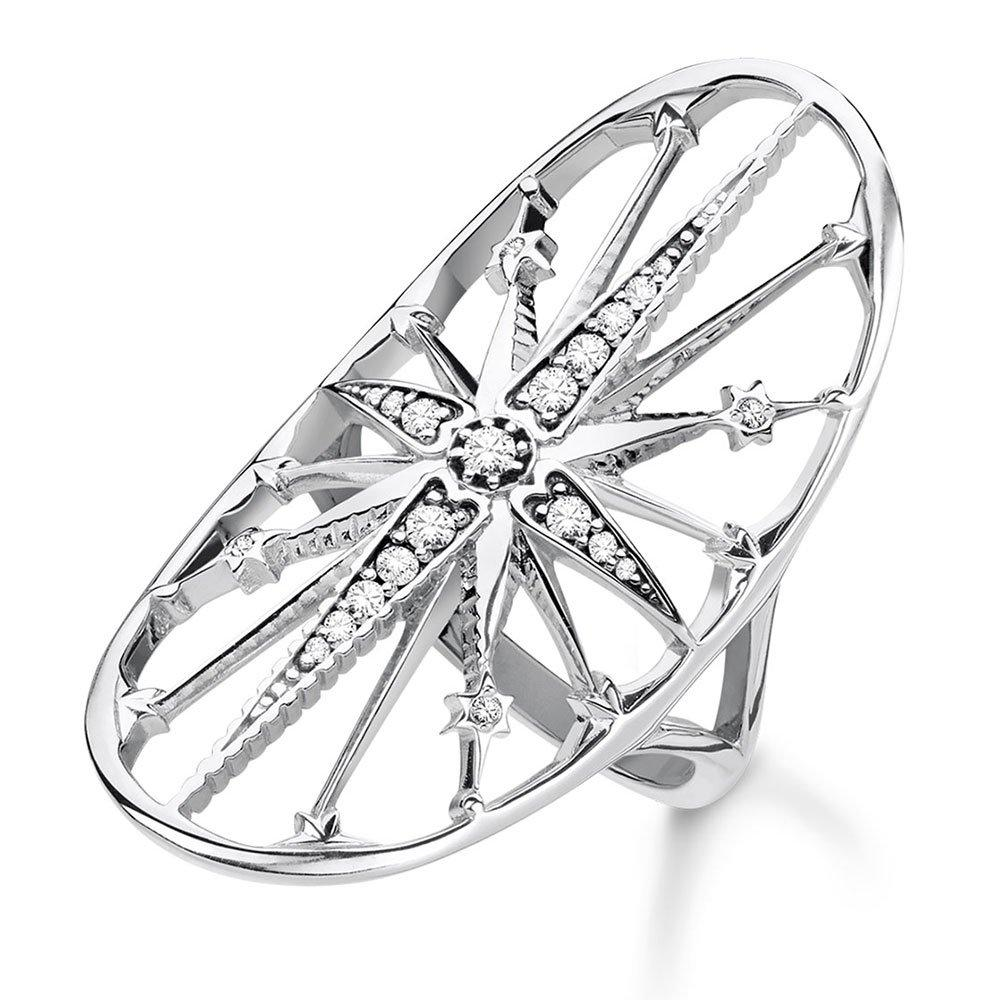 Thomas Sabo Glam & Soul Silver Cubic Zirconia Royalty Star Ring