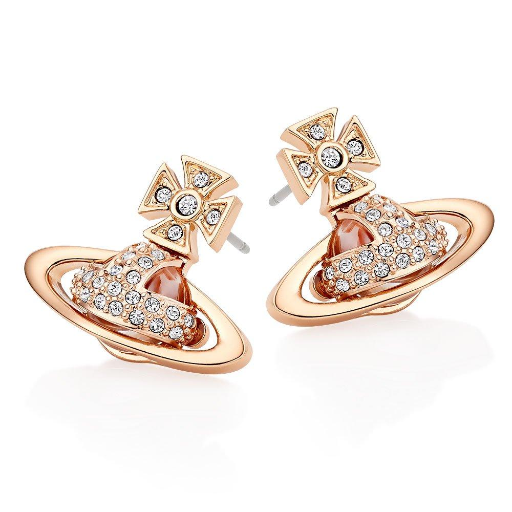 Vivienne Westwood Sorada Rose Gold Tone Cubic Zirconia Earrings