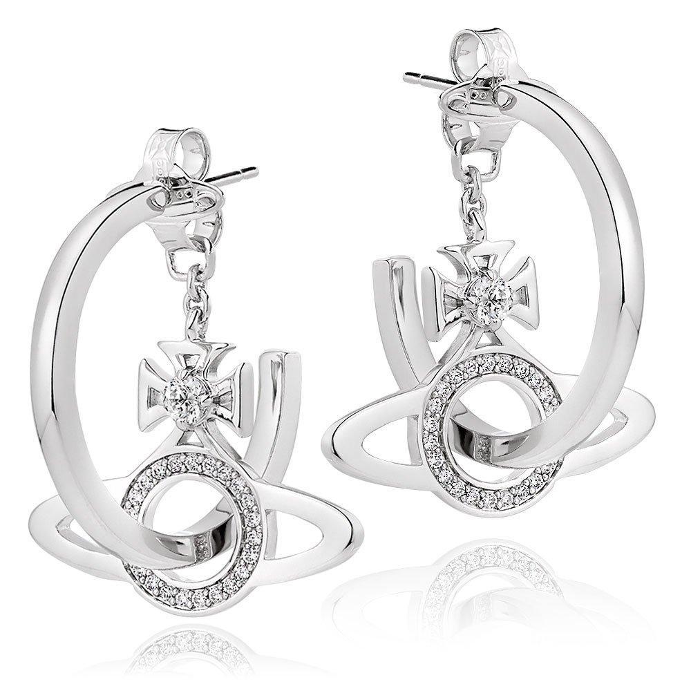 Vivienne Westwood Miranda Cubic Zirconia Hoop Earrings