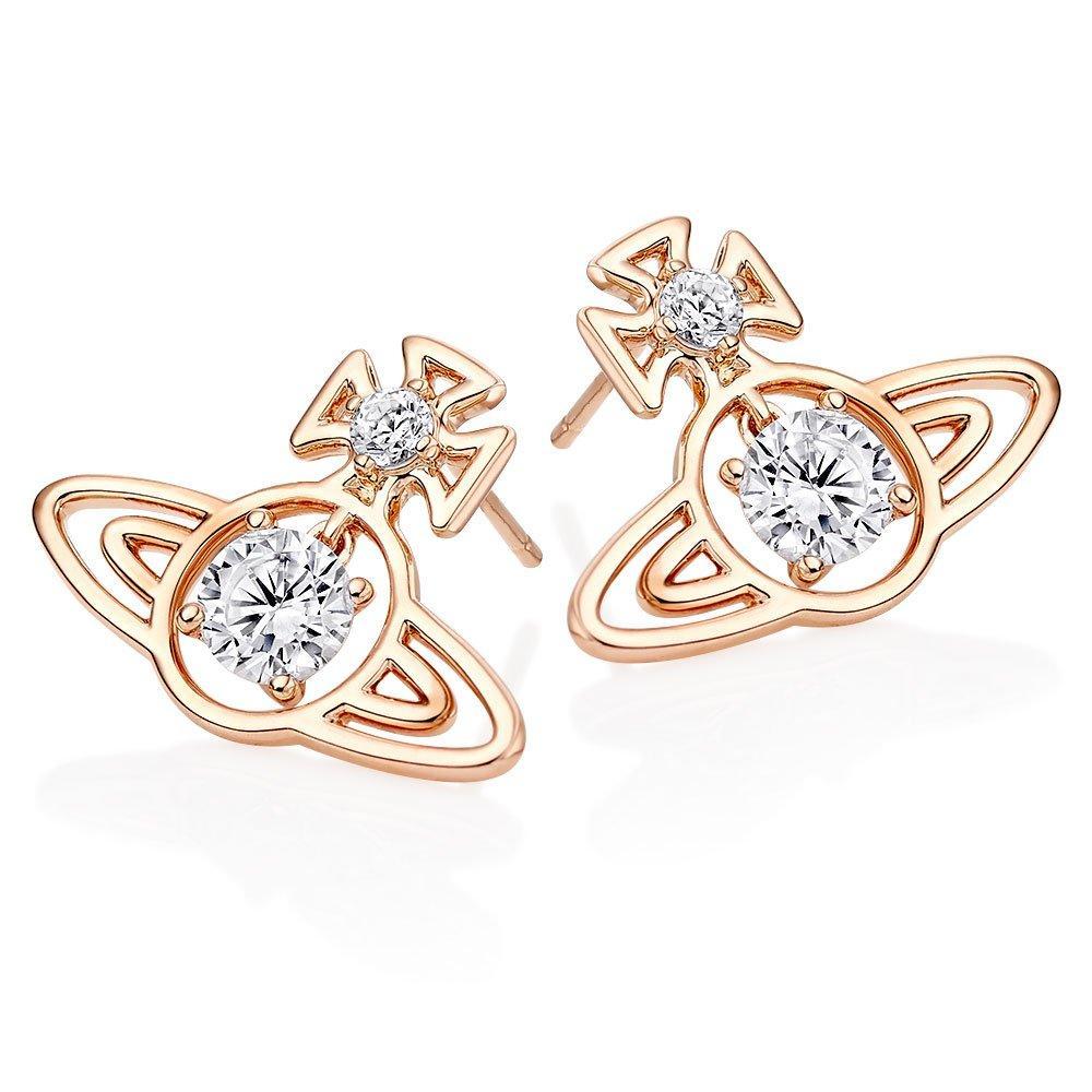 Vivienne Westwood Sheila Rose Gold Tone Earrings