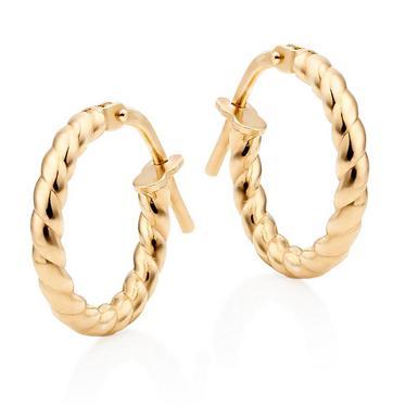 Silver Gold Plated Twist Hoop Earrings