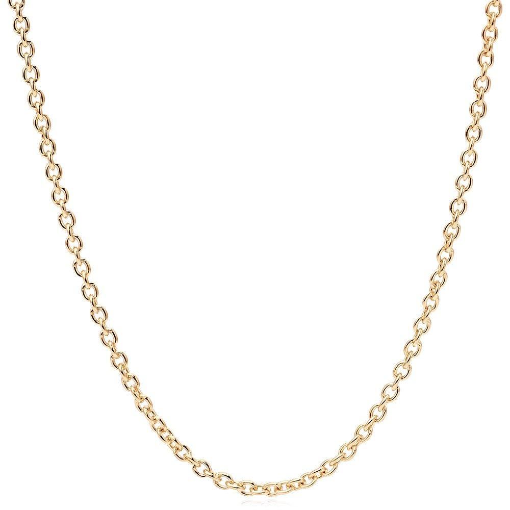 18ct Gold Plated Silver Trace Chain 45cm