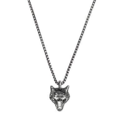 Gucci Silver Wolf Head Pendant