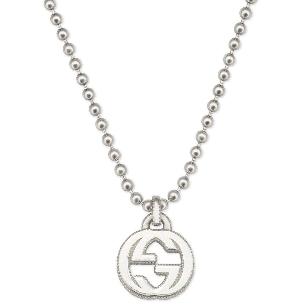 Gucci Silver Interlocking G Pendant
