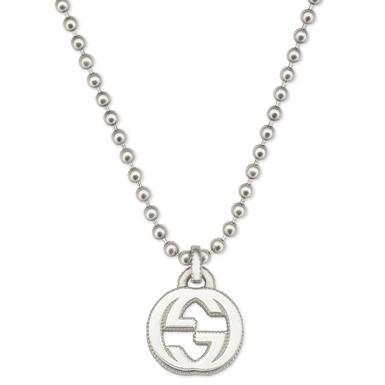Gucci Silver Interlocking G Pendant
