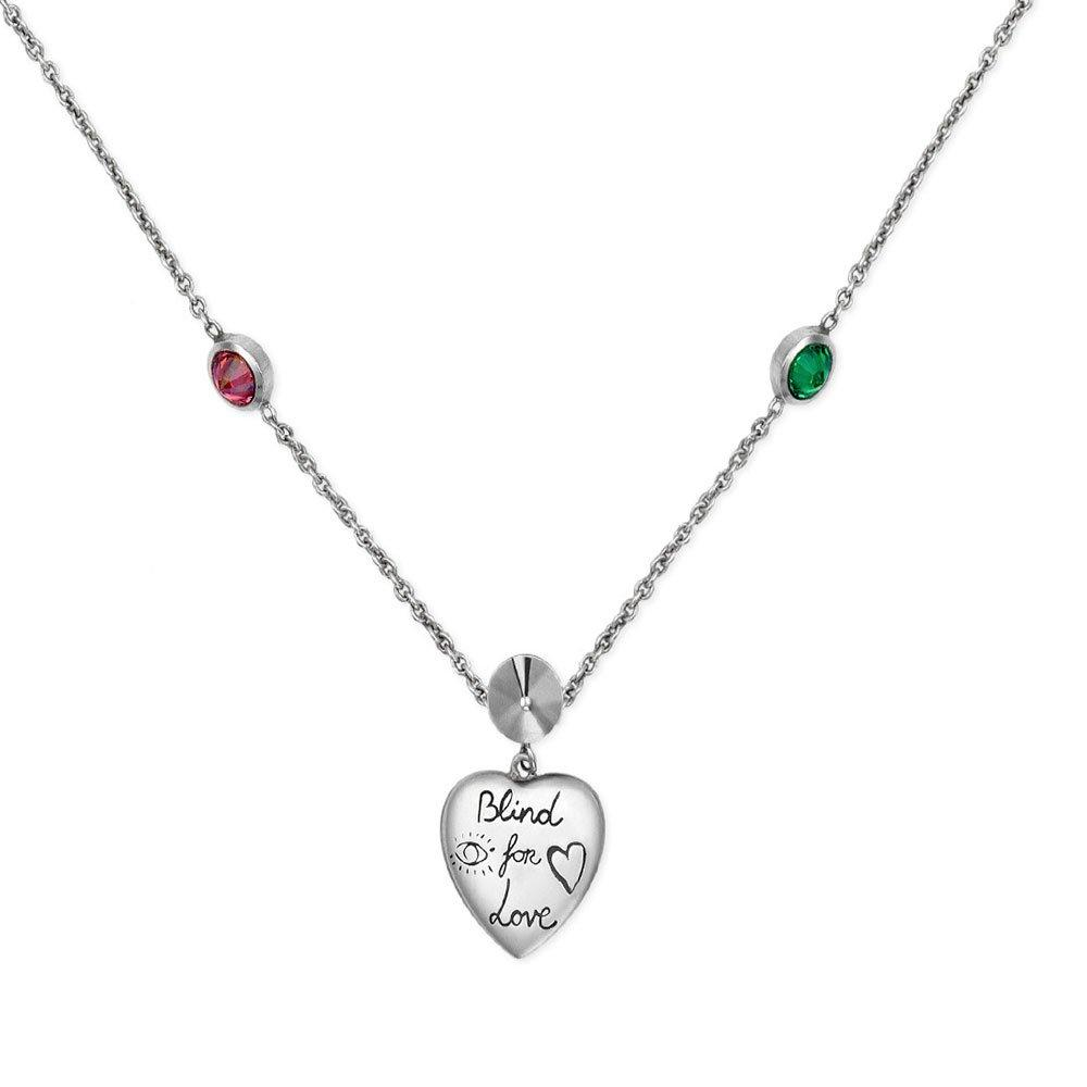 Gucci Blind For Love Silver Pendant