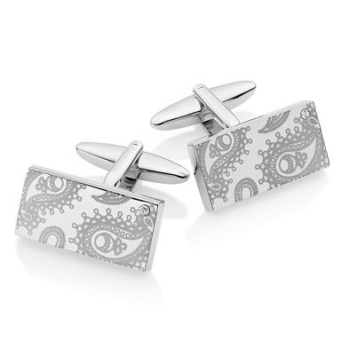 Steel Paisley Men's Cufflinks