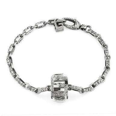 Gucci G Cube Silver Bracelet