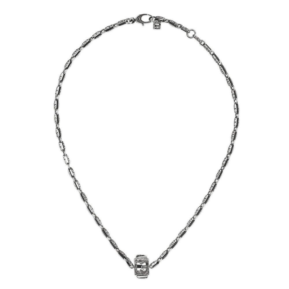 Gucci G Cube Silver Necklace