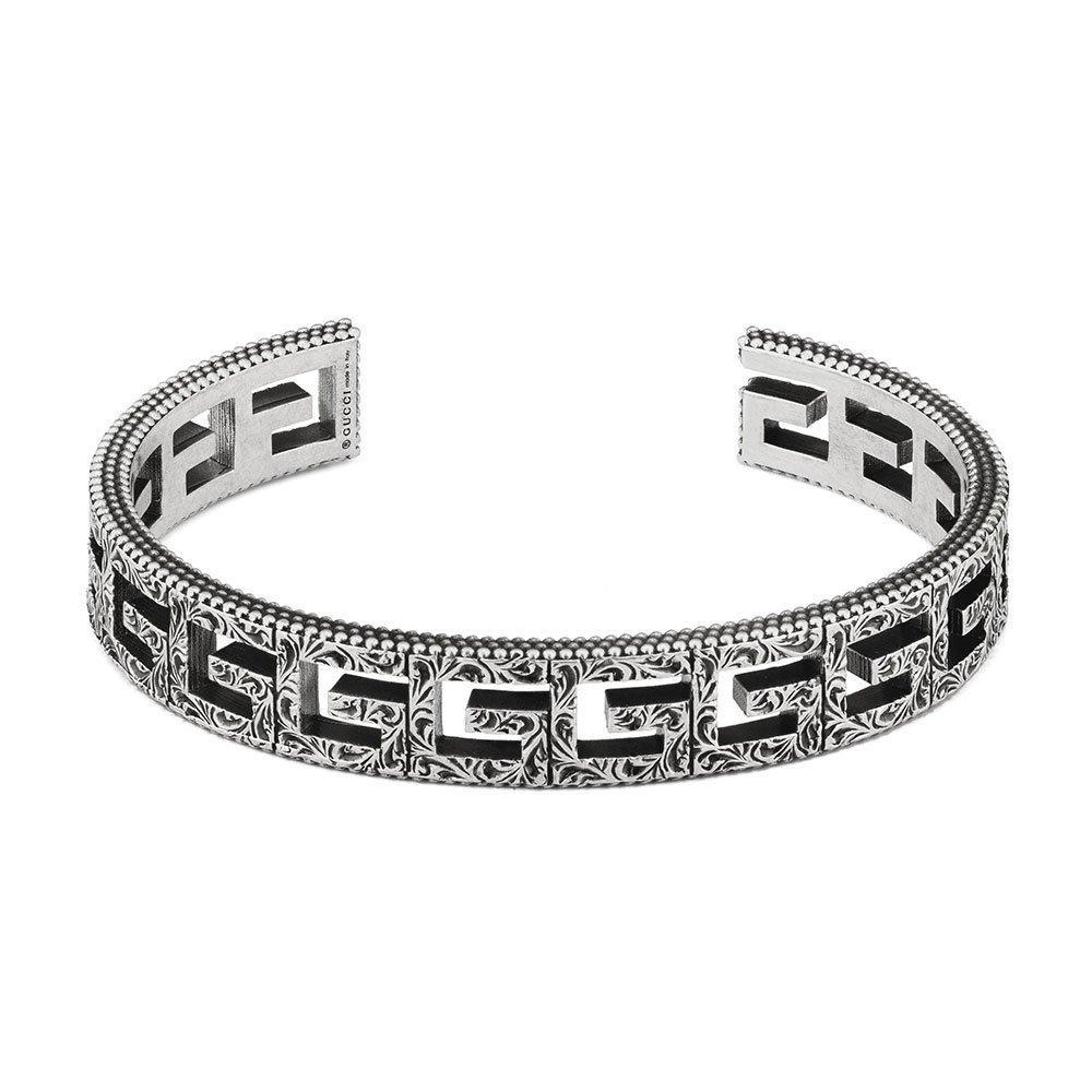 Gucci G Cube Silver Ladies Bangle
