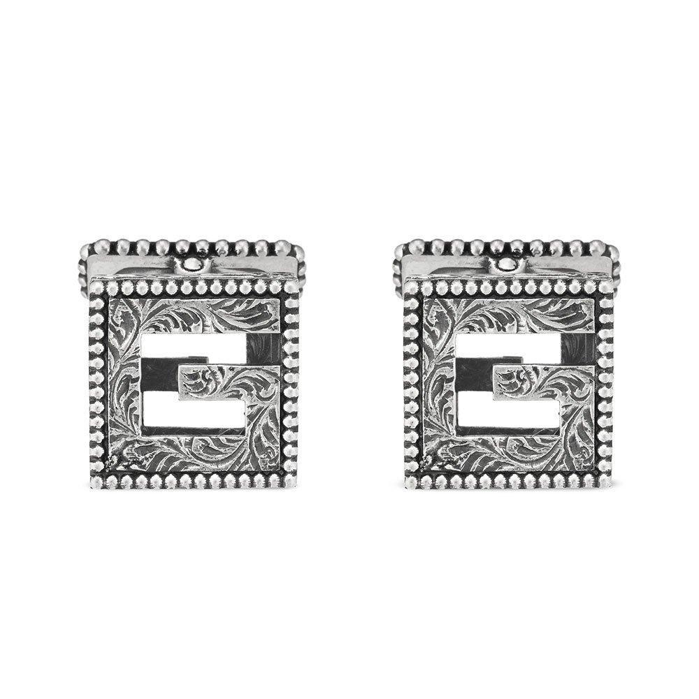 Gucci G Cube Silver Cufflinks