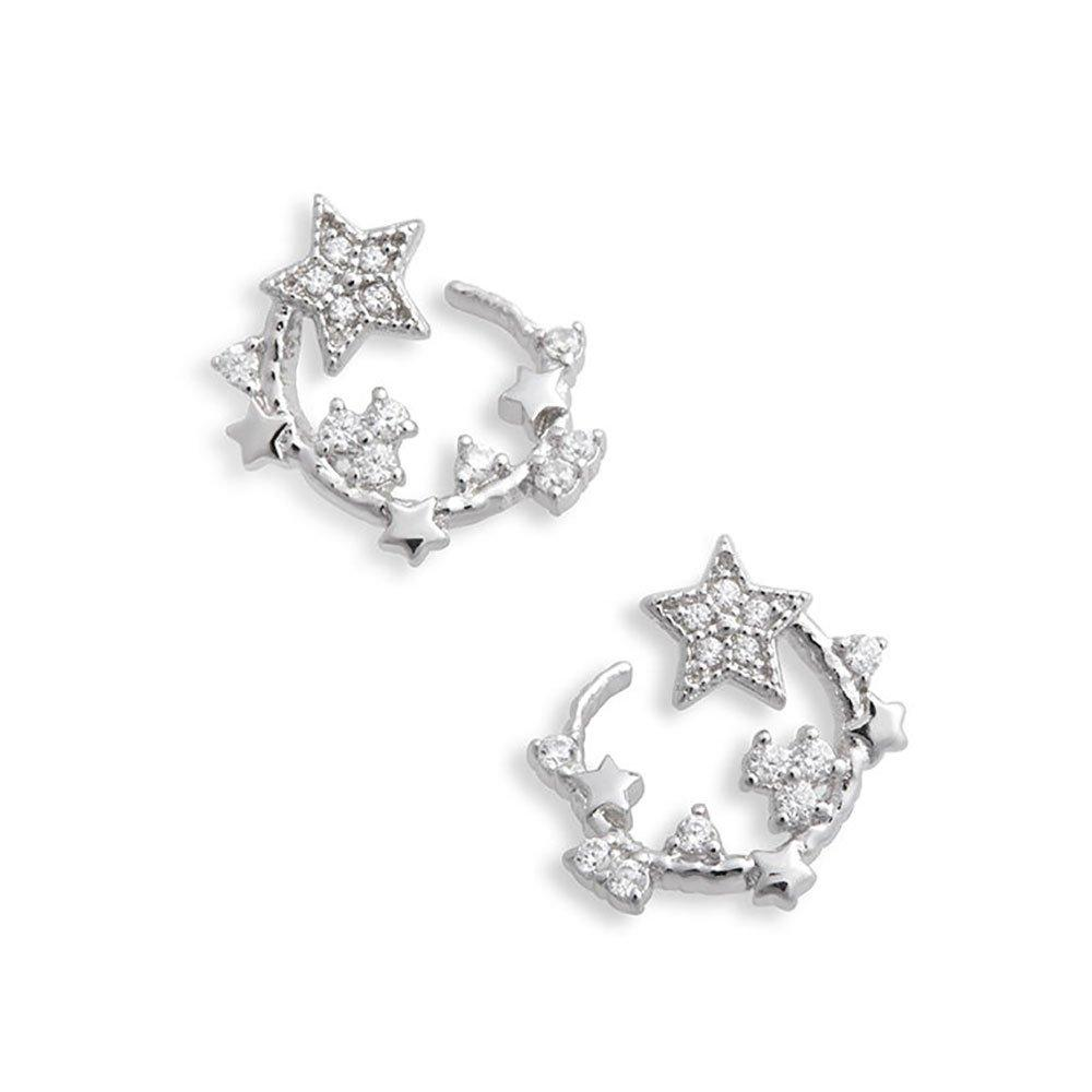 Olivia Burton Celestial Silver Crystal Earrings