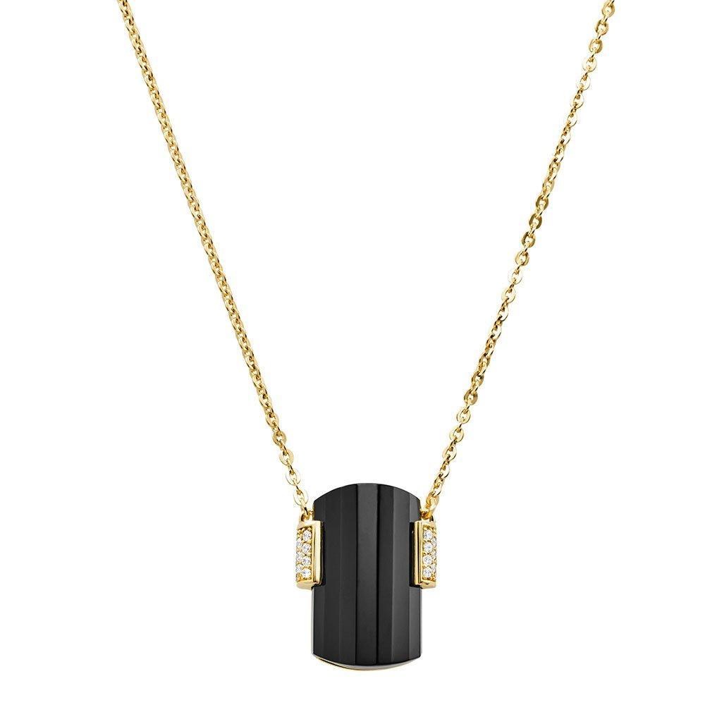 Michael Kors Mercer Link Gold Plated Silver Necklace
