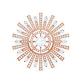 Swarovski Sunshine Rose Gold Tone Crystal Brooch