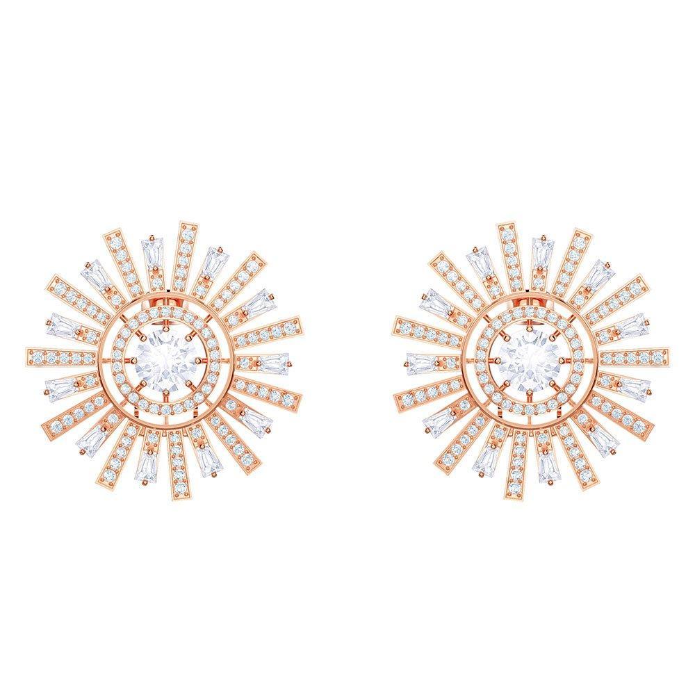 Swarovski Sunshine Rose Gold Tone Crystal Stud Earrings