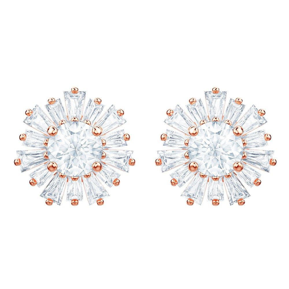 Swarovski Sunshine Rose Gold Plated Crystal Stud Earrings