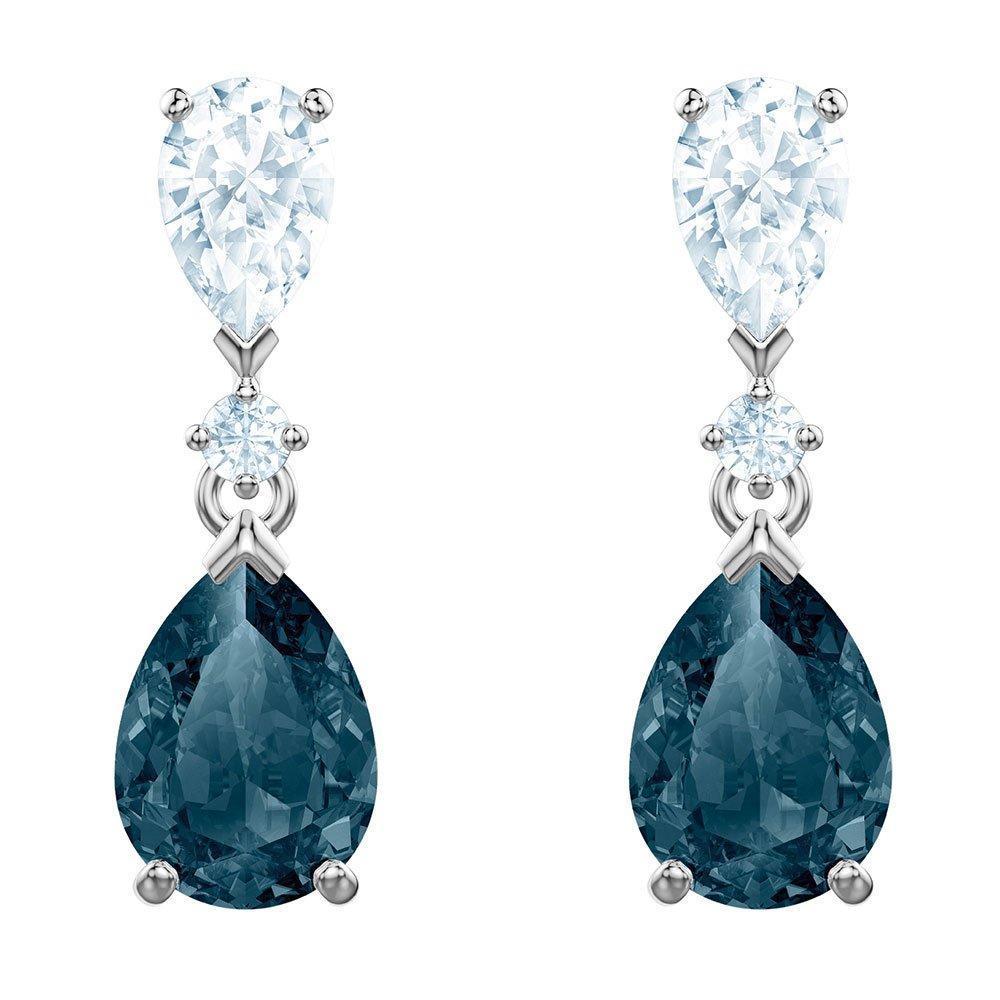 Swarovski Vintage Blue Crystal Drop Earrings