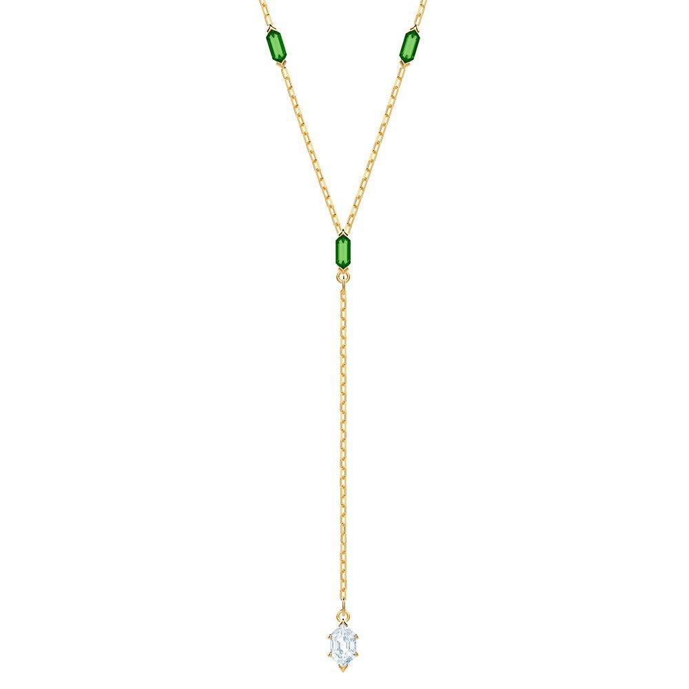 Swarovski Oz Yellow Gold Tone Crystal Y Necklace