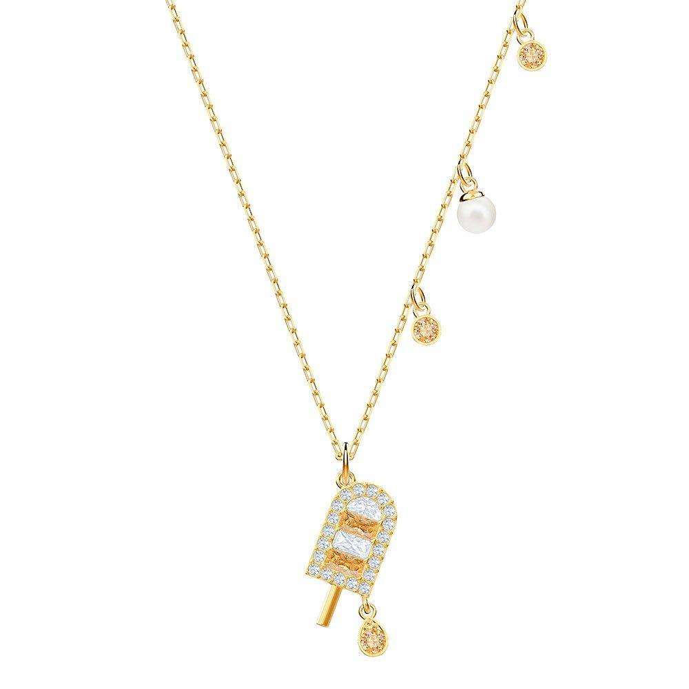 Swarovski No Regrets Ice Lolly Yellow Gold Tone Crystal Pendant