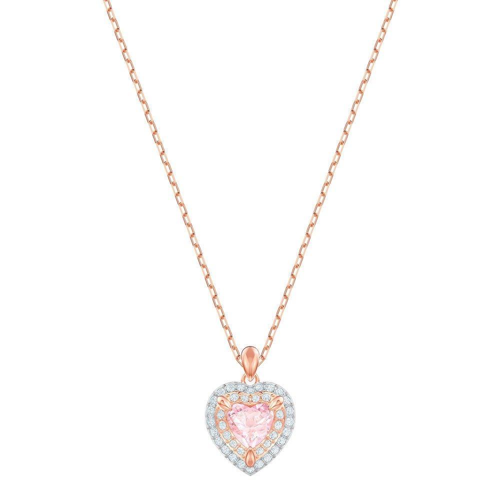 Swarovski One Rose Gold Plated Heart Pendant
