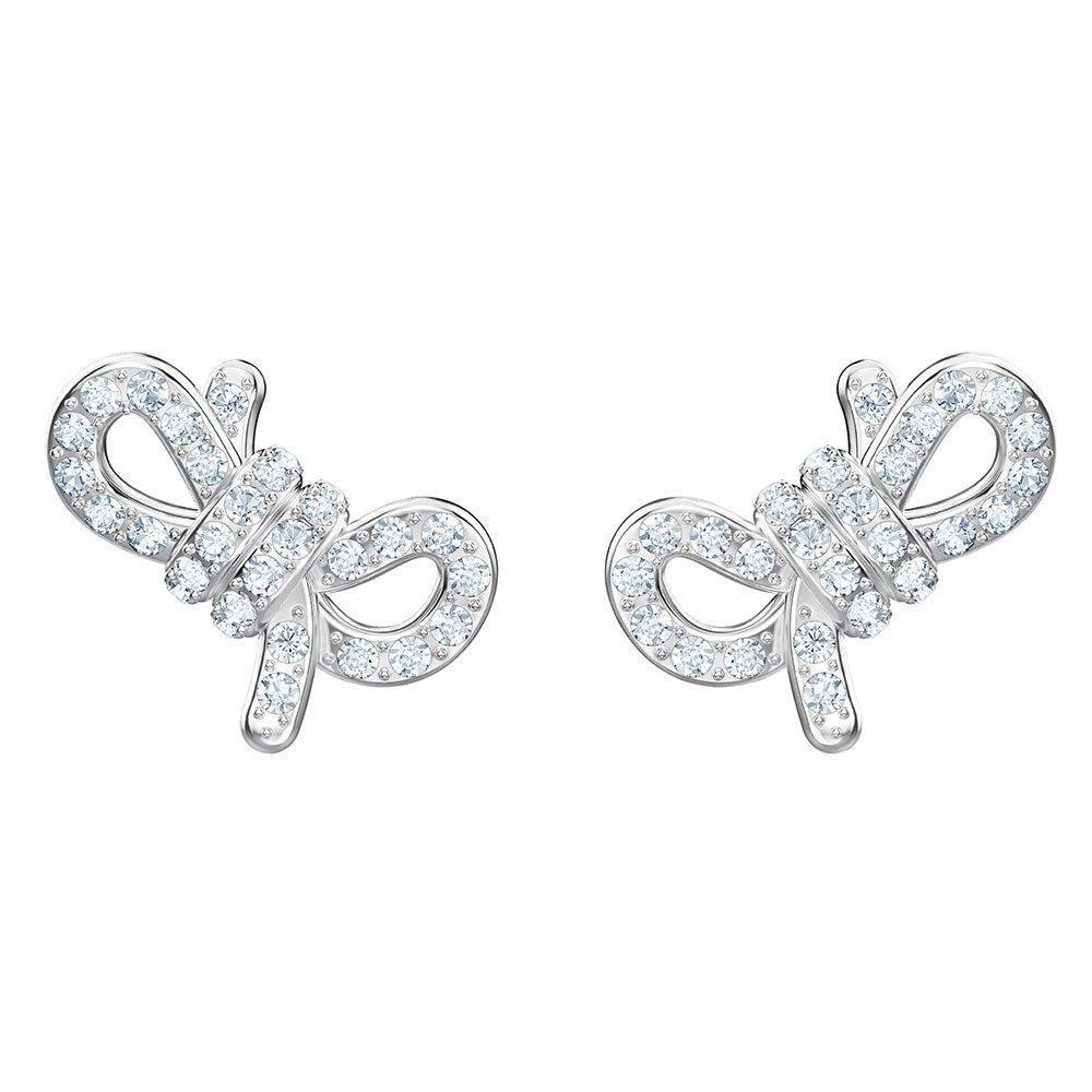 Swarovski Lifelong Bow Crystal Stud Earrings