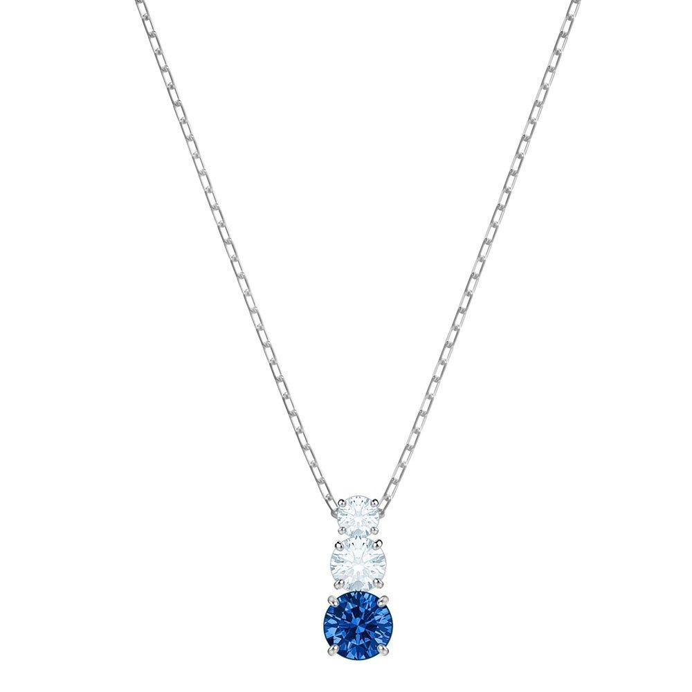 Swarovski Attract Trilogy Blue Crystal Pendant