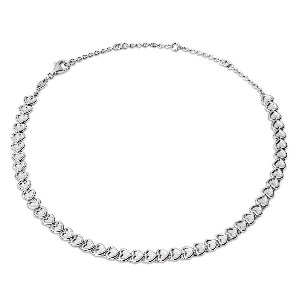 Links of London Endless Love Silver Heart Choker
