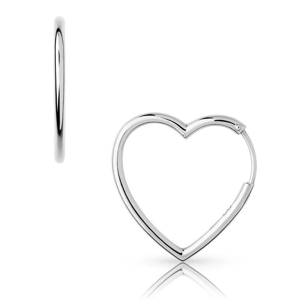 Links of London Endless Love Silver Heart Earrings