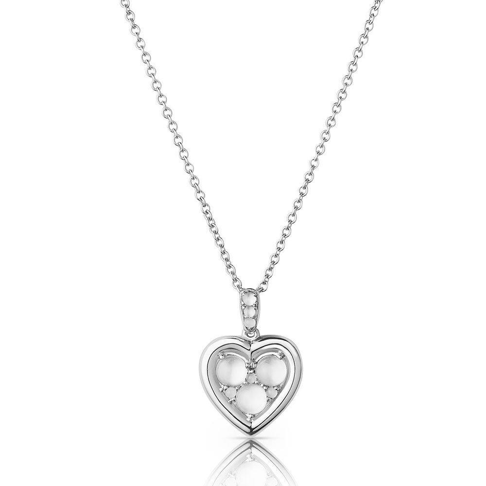 Links of London Silver Heart Moonstone Pendant