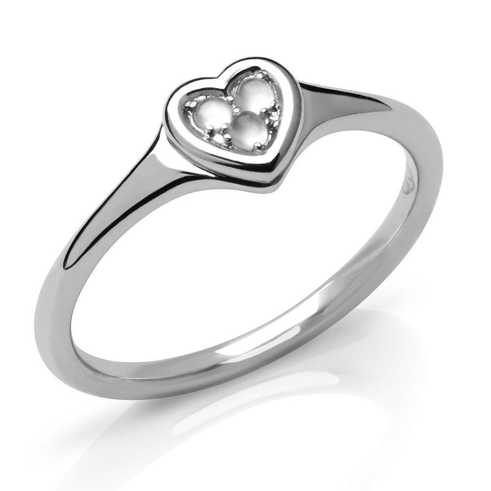 Links of London My Open Heart Silver Moonstone Ring