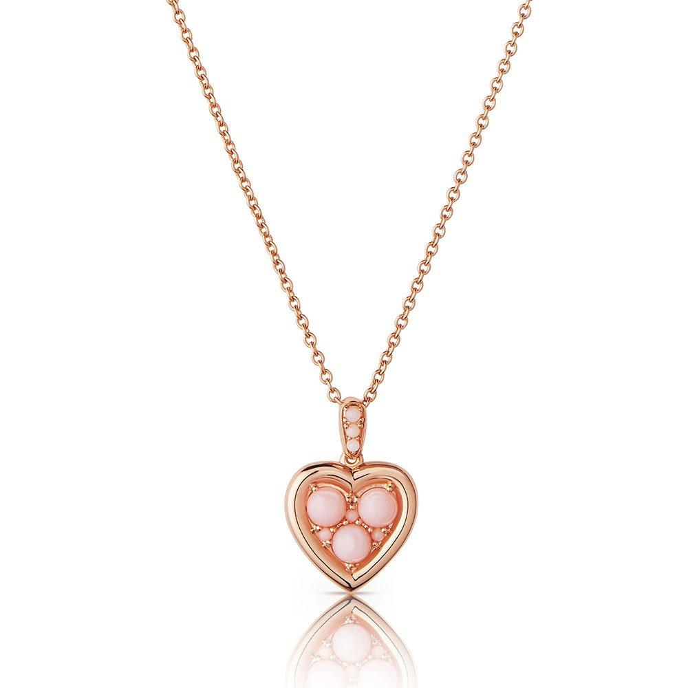 Links of London Rose Gold Plated Silver Pink Opal Heart Pendant