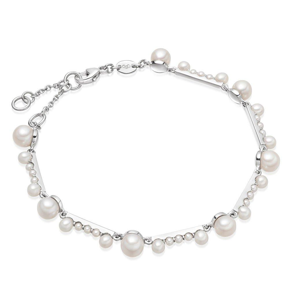 Links of London Orbs Silver Freshwater Cultured Pearl Bracelet