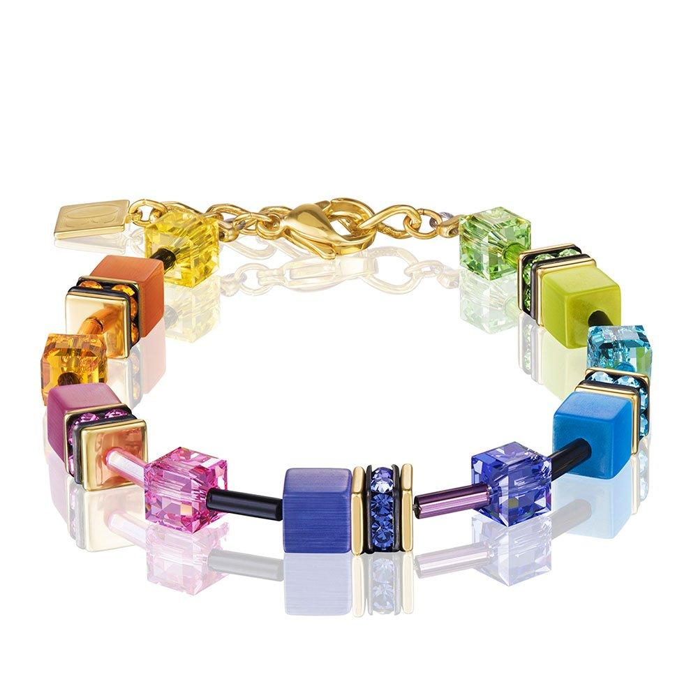Coeur De Lion GeoCube Gold Plated Crystal Bracelet
